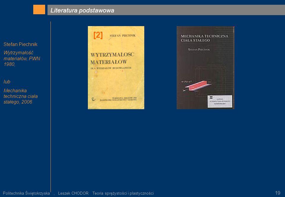 [2] Literatura podstawowa lub 19 Stefan Piechnik